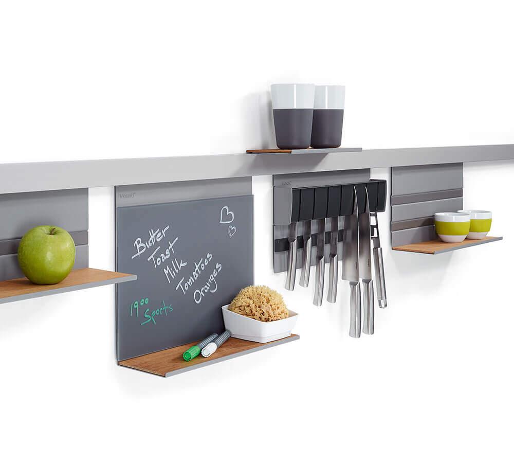 Kessebohmer Linero MosaiQ Grey Kitchen Memo Board  NEW