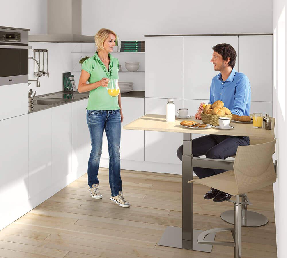 höhenverstellbarer Bistrotisch / Küchentisch