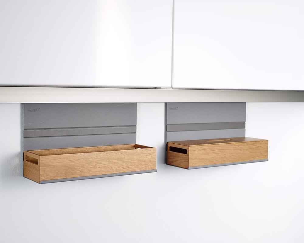 Linero mosaiq superior archivador kesseböhmer 585 gris titanio küchenreling relingelement