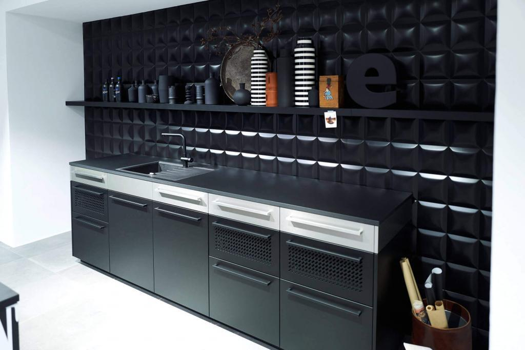Moderne Küche, schwarz