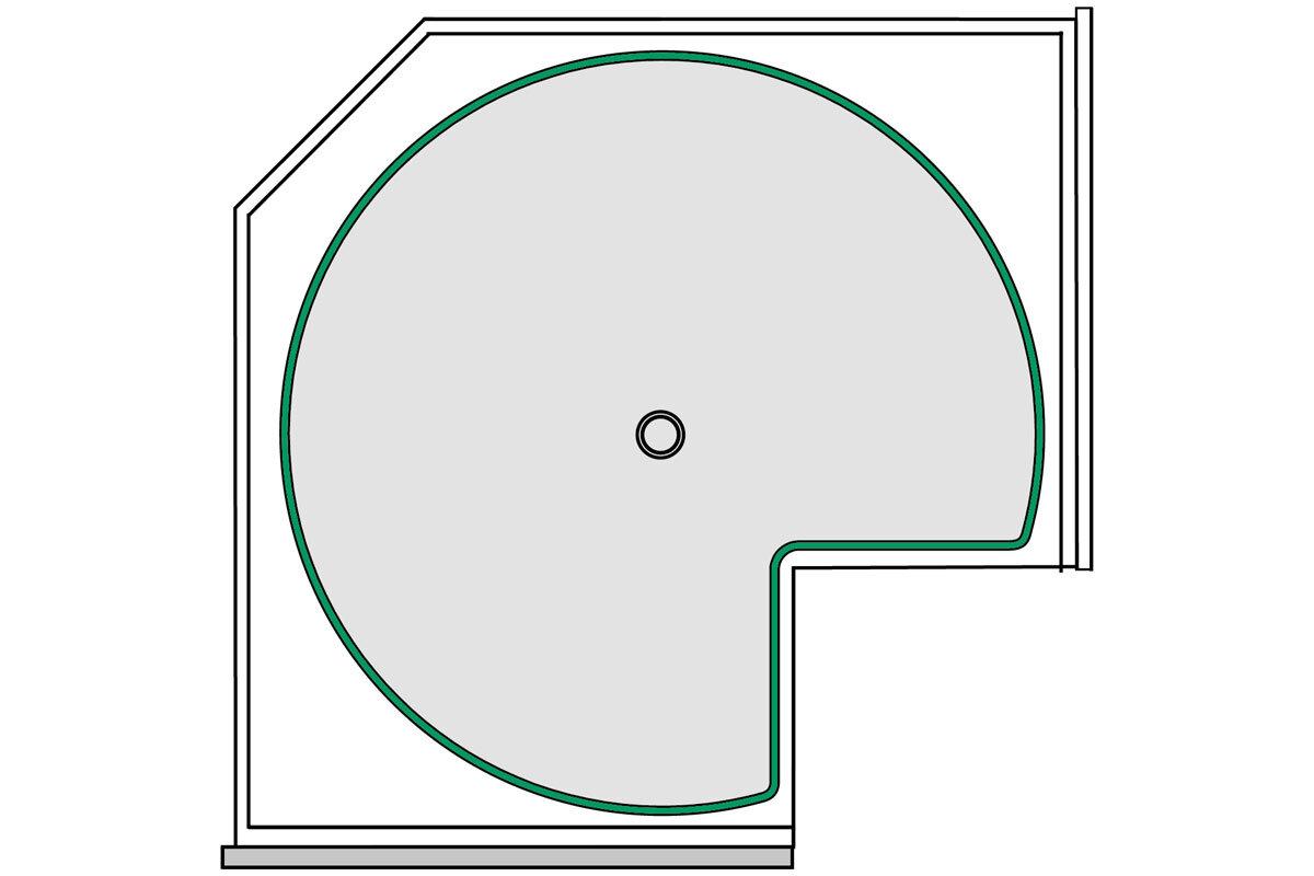 Skizze Dreiviertelkreis