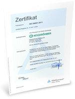 Zertifikat ISO 50001 2012
