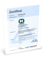 Zertifikat ISO 9001 2015