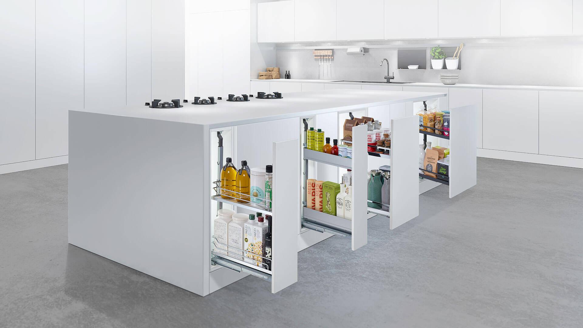Küchenauszüge in verschiedenen Breiten